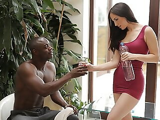 BLACK4K. Horny girl from gym shows the way of relaxation pornstar blowjob